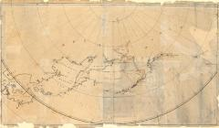 Map of North Pacific and polar chart