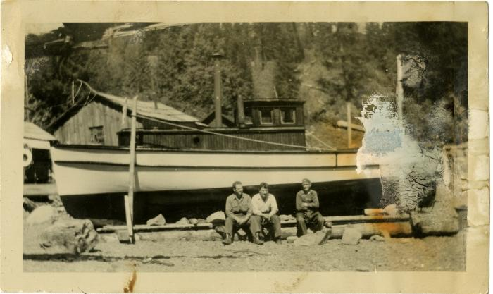 Fred Benson's boat Elin in for repairs (VMM71.44)