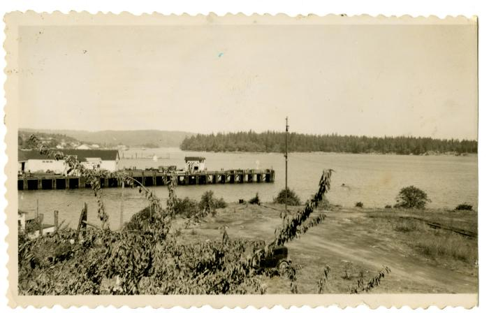 Dock at Chemainus, Vancouver Island (VMM71.49)